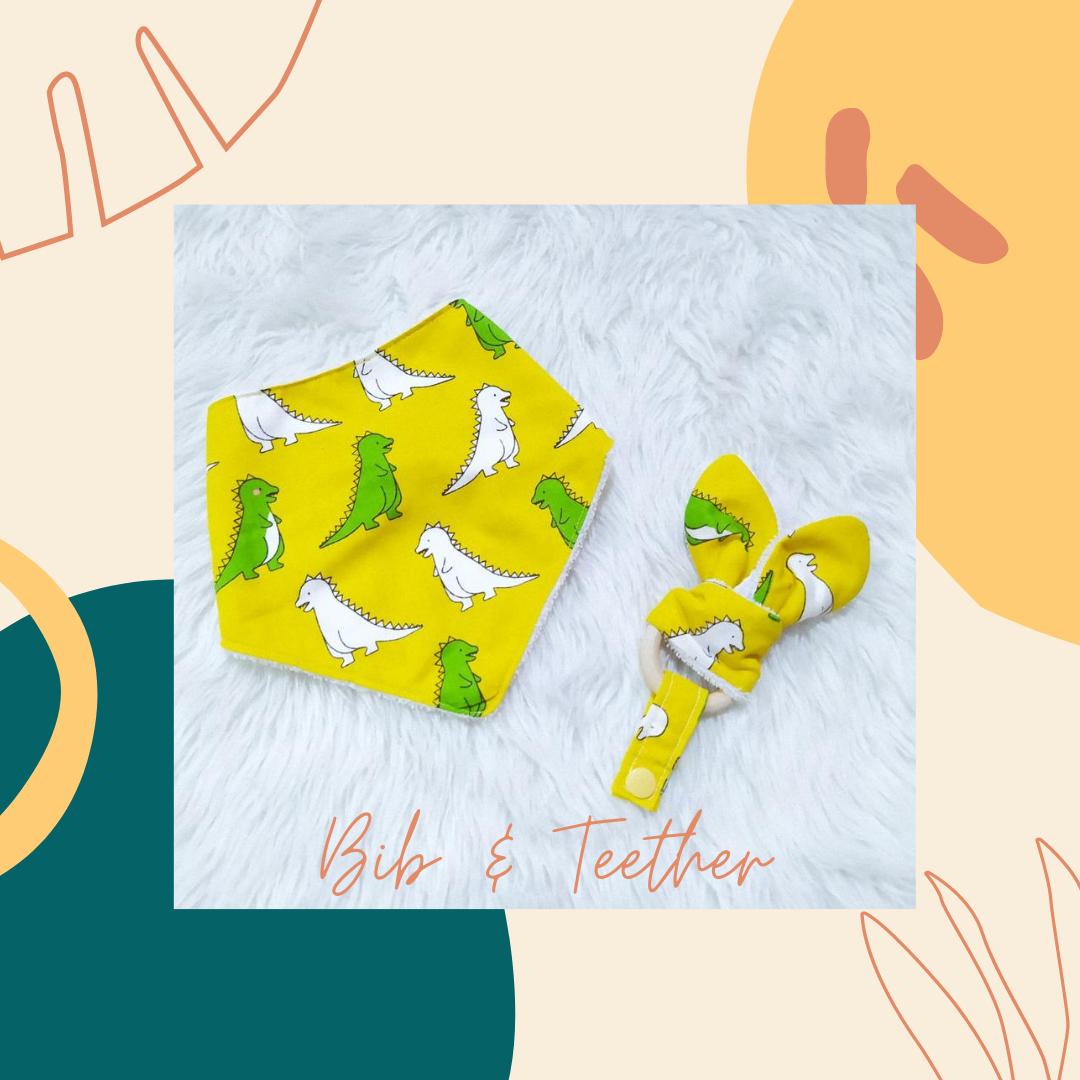 Bib Teether _ Dinosaur