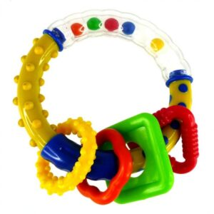 Simple Dimple Circle w Ring Rattle