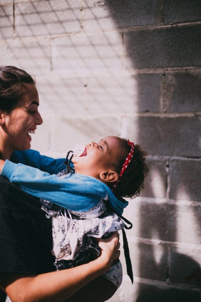 Babywearing Happy Mom and Baby